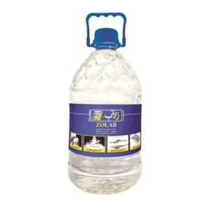 آب مقطر زلاب 5لیتری zolab