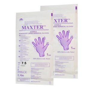 دستکش جراحی مکستر سایز 7.5 - قیمت دستکش مکستر