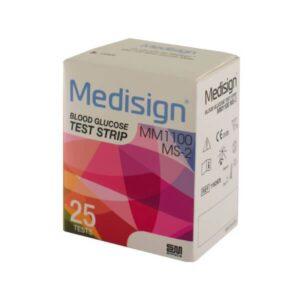 نوار تست قندخون مدیساین Medisign