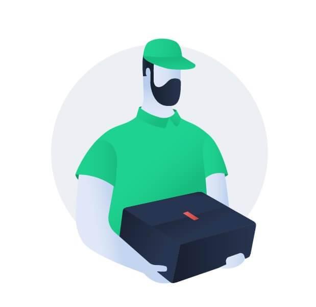 مامور تحویل سفارشات فروشگاه اینترنتی هاسپکسا